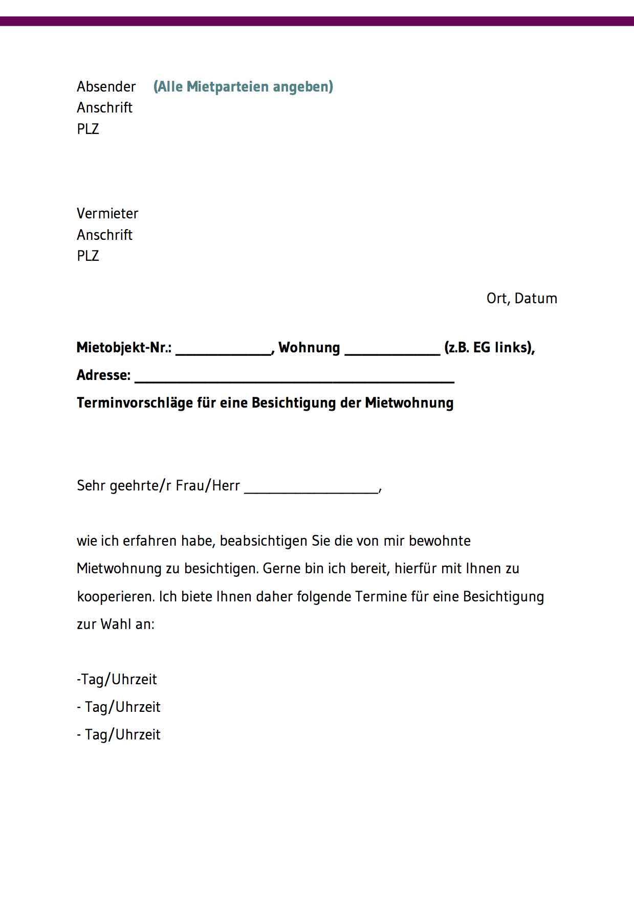 ᐅᐅ Vorlagen Formular Vermieterbescheinigung 3